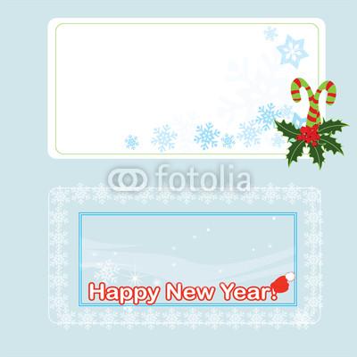 Голубые новогодние баннеры (5)