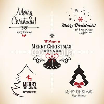 Изящные новогодние баннеры в ретро стиле (3)
