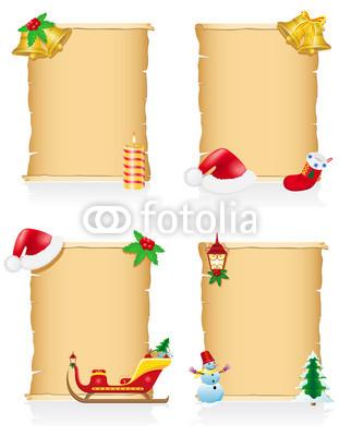 Изящные новогодние баннеры в ретро стиле (4)