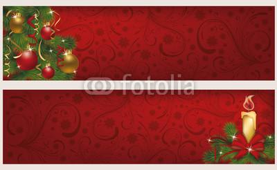 Красные новогодние баннеры (2)