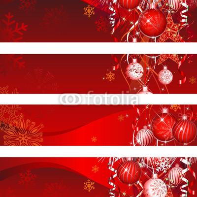 Красные новогодние баннеры (4)