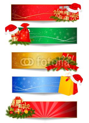 Новогодние баннеры разных цветов (1)