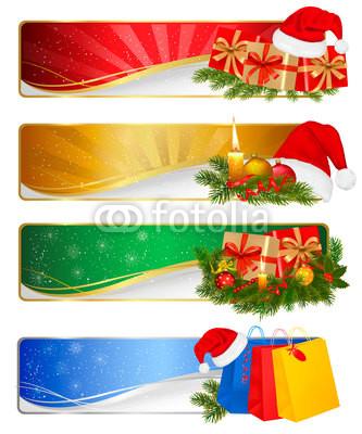 Новогодние баннеры разных цветов (4)