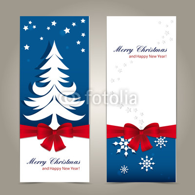 Сине голубые новогодние баннеры (1)