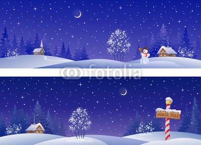 Сине голубые новогодние баннеры (10)