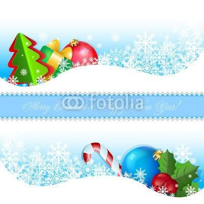 Сине голубые новогодние баннеры (15)