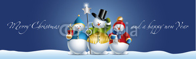 Сине голубые новогодние баннеры (2)