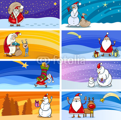 баннеры с Дедом Морозом