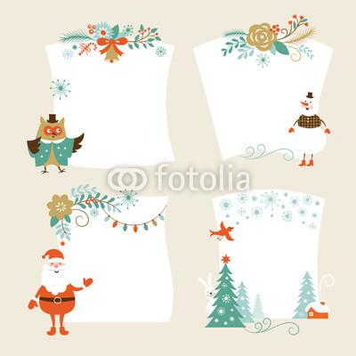 бежево-коричневые новогодние баннеры (2)