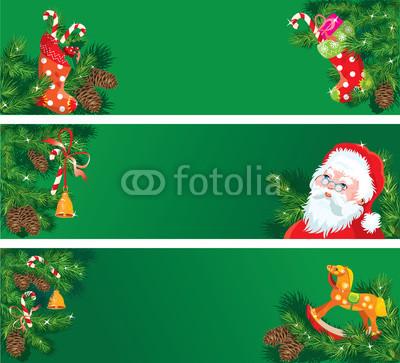 все оттенки зелёного для новогоднего баннера (1)