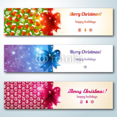 разноцветные новогодние баннеры (1)