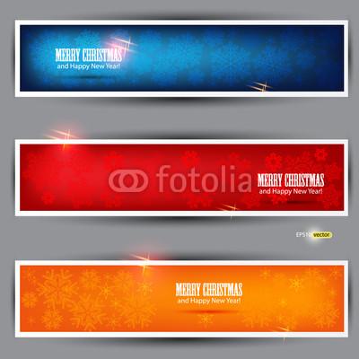 разноцветные новогодние баннеры (2)