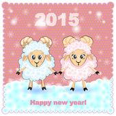 открытки год козы  (10)