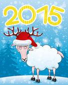 открытки год козы  (9)
