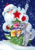 открытки год козы (57)