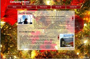 Новогодний flash сайт. Цветовая гамма - золотой и бордовый, как фон используются цветы пуансетии. Музыкальное сопровождение