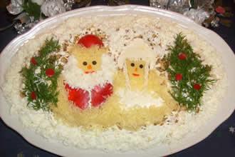 Оформление новогодних блюд в год Обезьяны