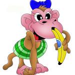 Обезьяна с бананом