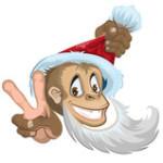Обезьяна Дед Мороз