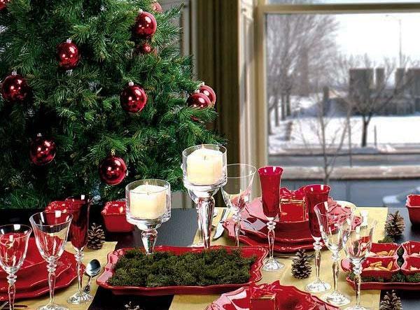 Украшение новогоднего стола в год Обезьяны