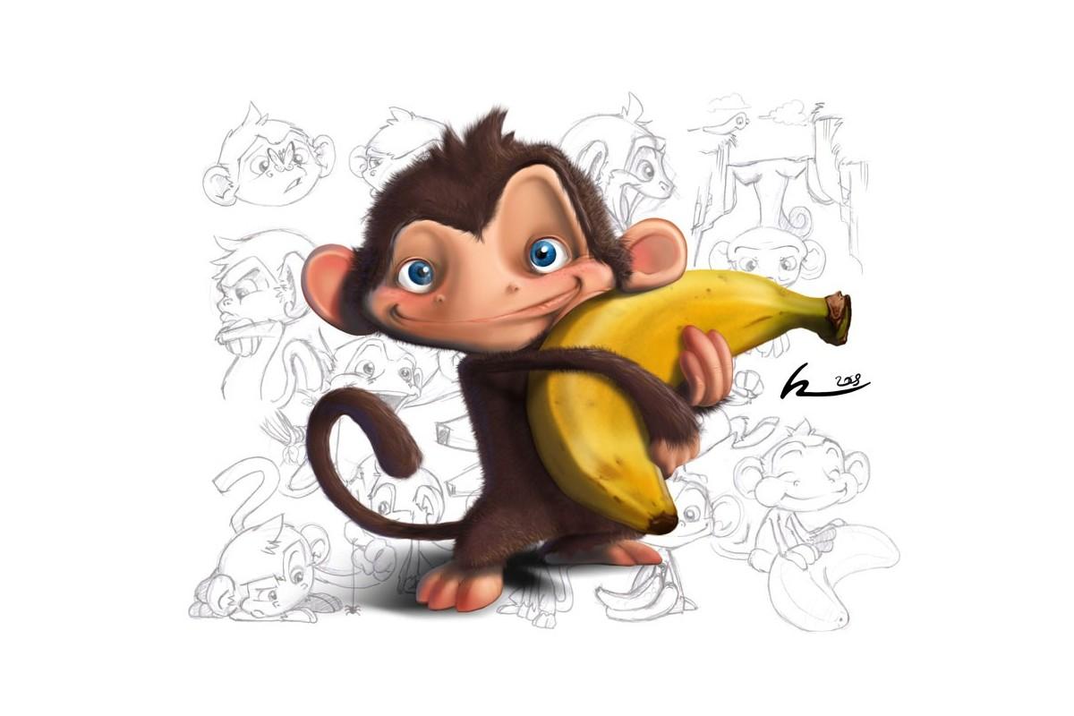 картинки новогодняя обезьяна (32)