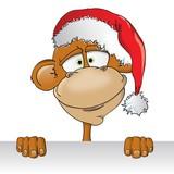 картинки новогодняя обезьяна (8)