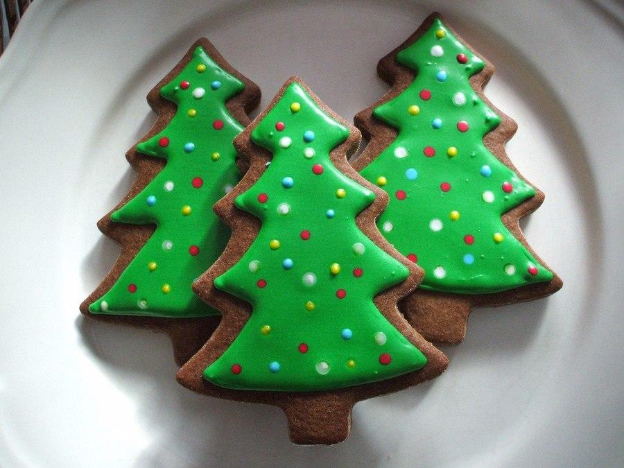Новогоднее печенье своими руками фото