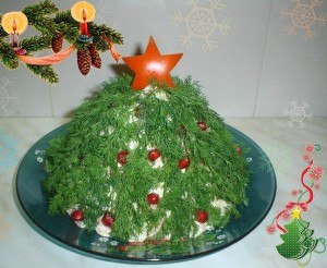 Салат «Карнавальная елка»