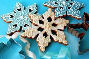 Сахарное печенье Снежинки