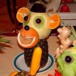 Топ - 10 рецептов к Новому 2016 году (оформление новогодних блюд в форме обезьянки) - 10