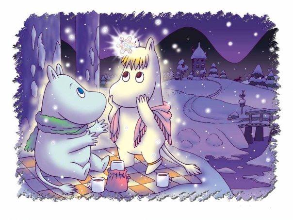 Новогодние открытки. Сказочная новогодняя открытка для детей и всех, кто любит сказки и мультфильмы. Эта новогодняя открытка представляет сказочный рисованный ночной новогодний пейзаж и двух персонажей известного мультика, которые готовятся встретить Новый год вместе. Сказочная новогодняя открытка также подходит для влюблённых с чувством юмора и нежным отношением друг к другу.