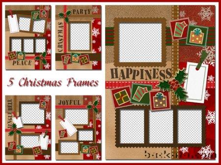 Новогодние рамки. Винтажные новогодние рамки для тех, кто любит делать праздничное оформление для фотографий. Новогодняя рамка на пять фото отлично подойдёт как для семейного коллажа, так и для поздравления коллег по работе. Новогодние и рождественские рамки обязательно оценят те, кому Вы их отправите.