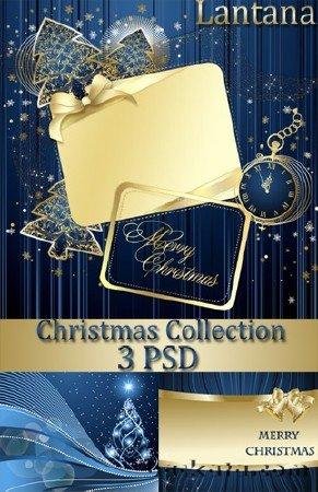Новогодние рамки. Стильная новогодняя рамка, сделанная как скрап-набор. Если у Вас есть время и желание удивить своих друзей, сделайте им потрясающий новогодний коллаж с их фотографиями. Новогодняя рамка в тёмно-синих тонах с бежевыми вставками поможет Вам сделать самую лучшую рамочку для самых лучших друзей. Здесь есть и роскошные тёмно-синие часы в золотой оправе, различные ёлочки и принты, дополнительные украшения и разные по фактуре фоны. Эта стильная новогодняя рамка может подойти и для рождественских праздников.