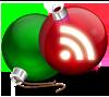 Новогодняя RSS:   зелёный и красный  со знаком RSS ёлочные шары