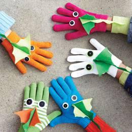 Драконы из перчаток