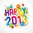 Надпись Happy 2013