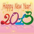 Разноцветная надпись 2013, а над ней надпись Happy New Year!