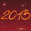 Надпись 2013 на красном фоне.