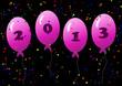 Воздушные шарики с надписью 2013.
