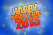 Надпись happy new year! 2013
