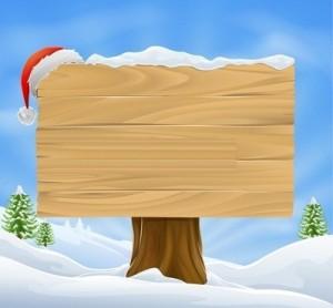 Основа для новогоднего или рождественского баннера, открытки