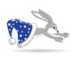 Серый кролик из синей шапки