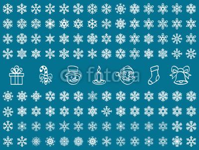 50 неповторимых  белых снежинок