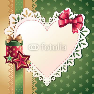 Изящный новогодний баннер с оборочками и новогодними украшениями (9)