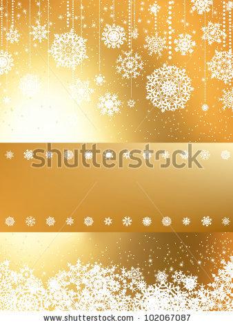 Красивая подложка для новогоднего баннера со снежинками (1)