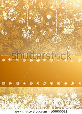 Красивая подложка для новогоднего баннера со снежинками (2)
