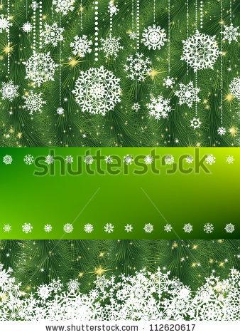 Красивая подложка для новогоднего баннера со снежинками (5)