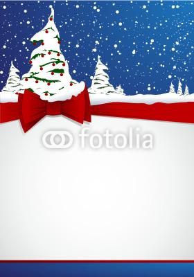 Красивый новогодний баннер с ёлочкой (3)