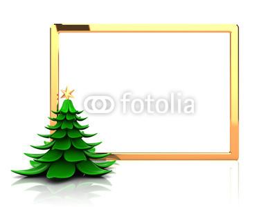 Красивый новогодний баннер с ёлочкой (6)