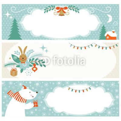 Голубые новогодние баннеры (1)